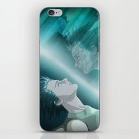 ghost in the shell iPhone & iPod Skins featuring Ghost in the Shell, fan poster by XDimov
