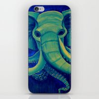 cthulu iPhone & iPod Skins featuring Octophant by Minxi