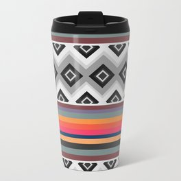Ethnic and multicolored stripes Travel Mug