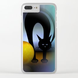 mooncat's property Clear iPhone Case