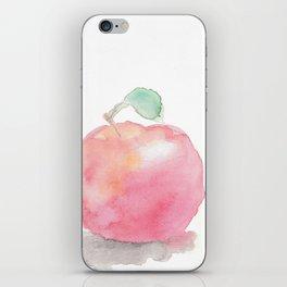 Watercolor Apple iPhone Skin
