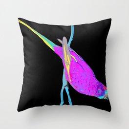 Swift Green Parrot Throw Pillow