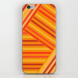 Orange - yellow stripes iPhone Skin