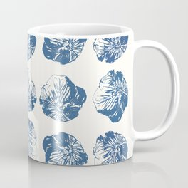Minimal Patterns - Mexican Primrose Blue Coffee Mug