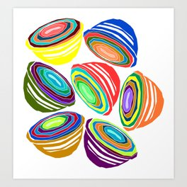 Favoriteware Mixing Bowls Art Print
