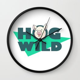 Hog Wild Wall Clock