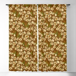 Flannel Flower Fields Blackout Curtain