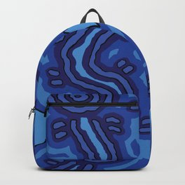 Authentic Aboriginal Art - Blue Campsites Backpack