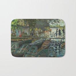 Bathers at La Grenouillere by Claude Monet Bath Mat