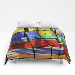 Colorful container wall board Comforters