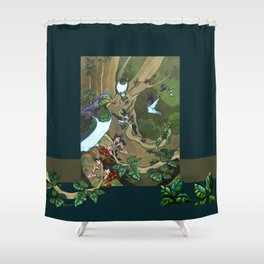 Pigeons, Parakeets and Fantails Shower Curtain