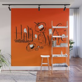 Happy and Terrific Halloween Wall Mural