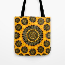 Spider webs, Halloween fractal art Tote Bag