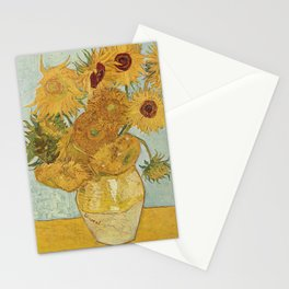 Vincent Van Gogh - Still Life: Vase with Twelve Sunflowers (1881) Stationery Cards