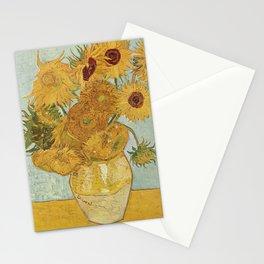 Vincent Van Gogh - Still Life: Vase with Twelve Sunflowers (1881) Stationery Cards