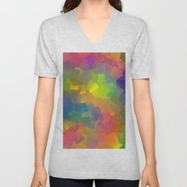 Abstract cubism -2- Unisex V-Neck