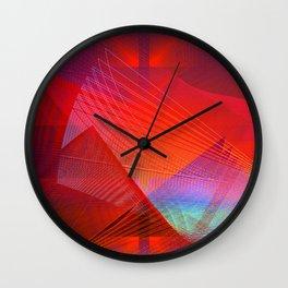 Red desert Wall Clock