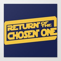 lebron Canvas Prints featuring Return of the Chosen One by JohnLucke