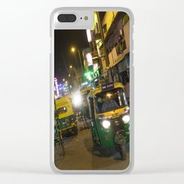 Delhi Nights Clear iPhone Case