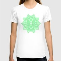 green pattern T-shirts featuring Green... by Lisa Argyropoulos