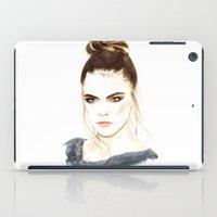 cara iPad Cases featuring Cara by Esther Kang