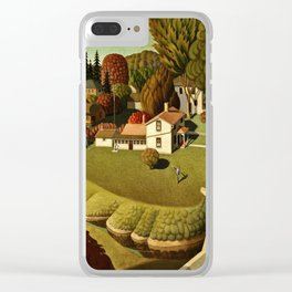Grant Wood - Birthplace Of Herbert Hoover Clear iPhone Case
