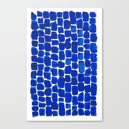Brick Stroke Blue Canvas Print
