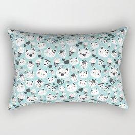 Cats & Food Pattern Rectangular Pillow