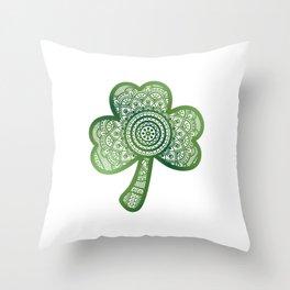 Shamrock or Clover Throw Pillow