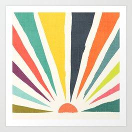 Rainbow ray Art Print