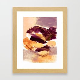 abstract painting XI Framed Art Print