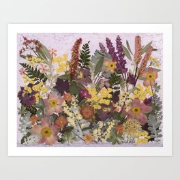 Pressed Flower English Garden Art Print