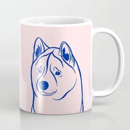 American Akita (Pink and Blue) Coffee Mug
