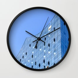 The reflections of sunny bunnies Wall Clock