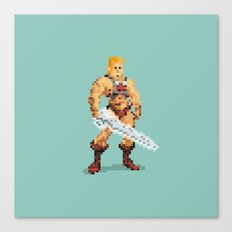 By The Power Of 8-Bit Canvas Print