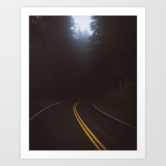 Foggy road #society6 #buyart Art Print