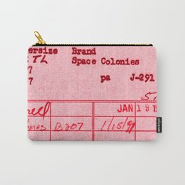 Library Card 797 Pink Carry-All Pouch