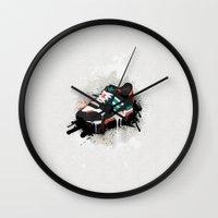 sneaker Wall Clocks featuring Sneaker by Nicu Balan