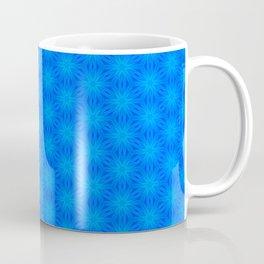 Bright blue on blue star pattern design Coffee Mug