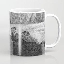Fox Kits Sketch Coffee Mug