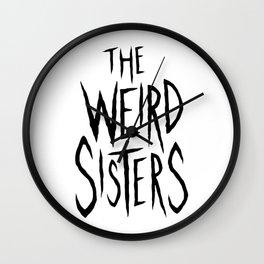 The Weird Sisters - Black Wall Clock