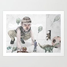 Invasion of the party pooper Art Print