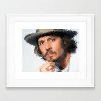 johnny depp Framed Art Prints featuring Johnny Depp by lauramaahs