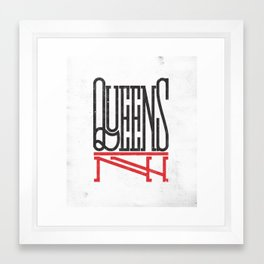 Queens NY Framed Art Print
