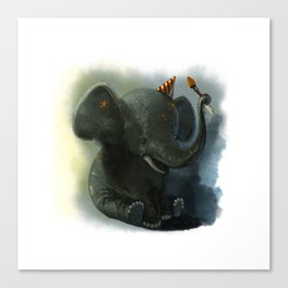 Painting Elephant Canvas Print