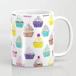 Watercolour Cupcakes Pattern Coffee Mug