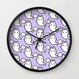 Cutie Bunny Ghost 02 Wall Clock