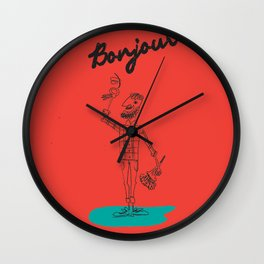 "The Ink - ""Bonjour"" Wall Clock"