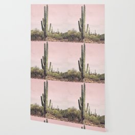 Blush Sky Cactus Wallpaper