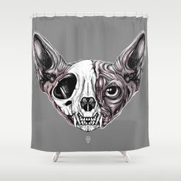 Shynx Half Skull Shower Curtain